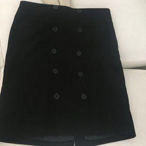 Black button skirt - Anne Klein stretch